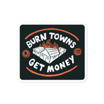 "DIMENSION 20 Live ""Burn Towns, Get Money"" Sticker"