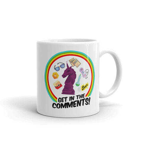"UM, ACTUALLY ""Get In The Comments!"" Mug"