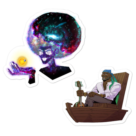 Dimension 20 Pirates of Leviathan Zarael and Cos Sticker Pack