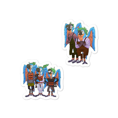 Dimension 20 Pirates of Leviathan Biscotto Family Character Sticker Pack