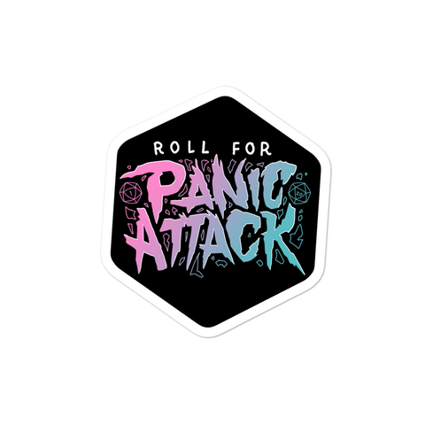 Dimension 20 Fantasy High Roll For Panic Attack Sticker