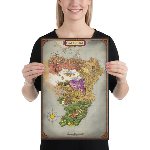 A CROWN OF CANDY:  The Map of Calorum Poster