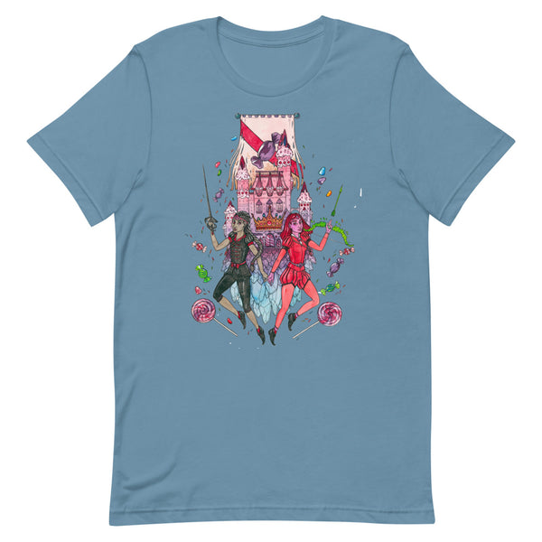 Dimension 20 A Crown of Candy The Princesses of House Rocks T-Shirt