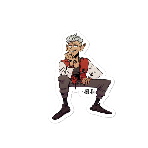 Dimension 20 Fantasy High Fabian Character Sticker