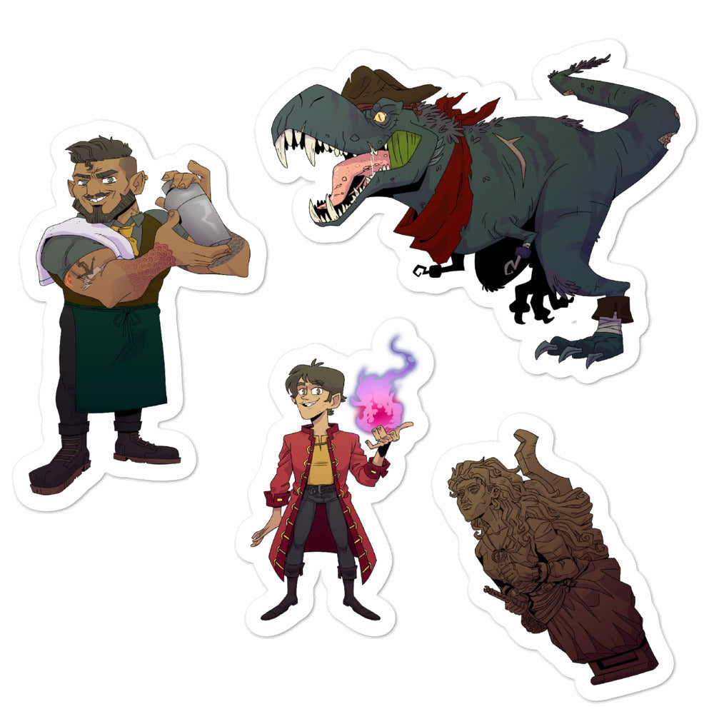 Dimension 20 Pirates of Leviathan NPC Sticker Pack 2