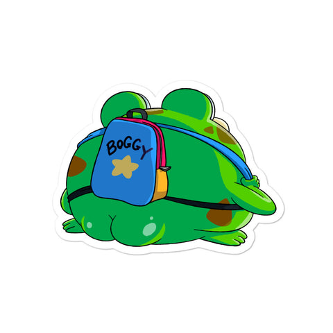 DIMENSION 20 Live Boggy with a Backpack Sticker
