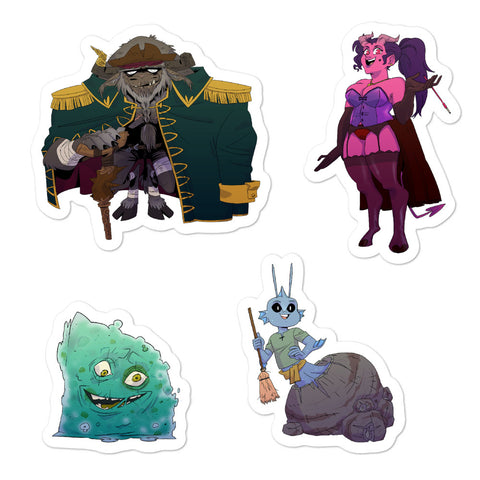 Dimension 20 Pirates of Leviathan NPC Sticker Pack 1