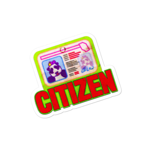 PARANOIA Citizen Sticker