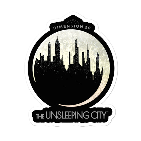 Dimension 20 The Unsleeping City Logo Sticker