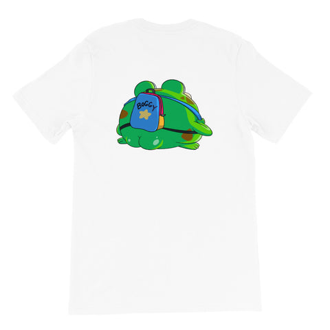 Dimension 20 Fantasy High Boggy with a Backbag T-Shirt