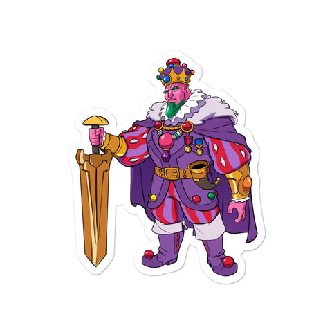 Dimension 20 A Crown of Candy King Amethar of House Rocks Character Sticker