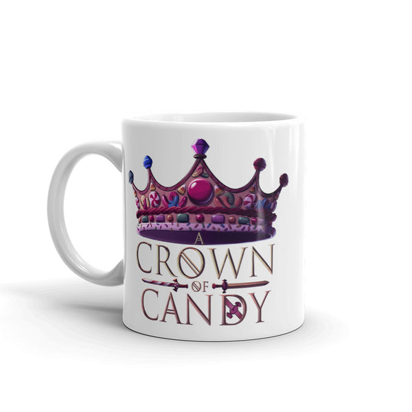Dimension 20 A Crown of Candy Logo Mug