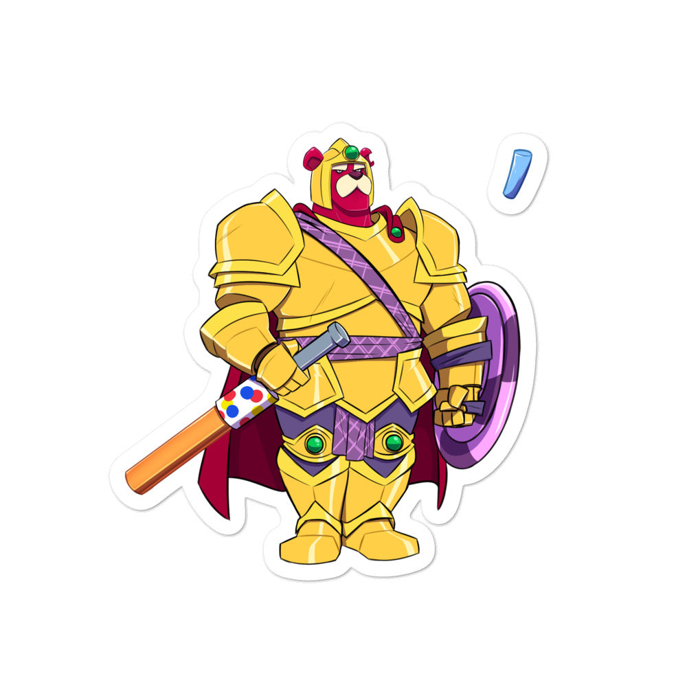 Dimension 20 A Crown of Candy Sir Theobald Gumbar and Sprinkle Character Sticker Pack