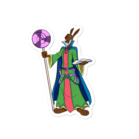 Dimension 20 A Crown of Candy Chancellor Lapin Cadbury Character Sticker