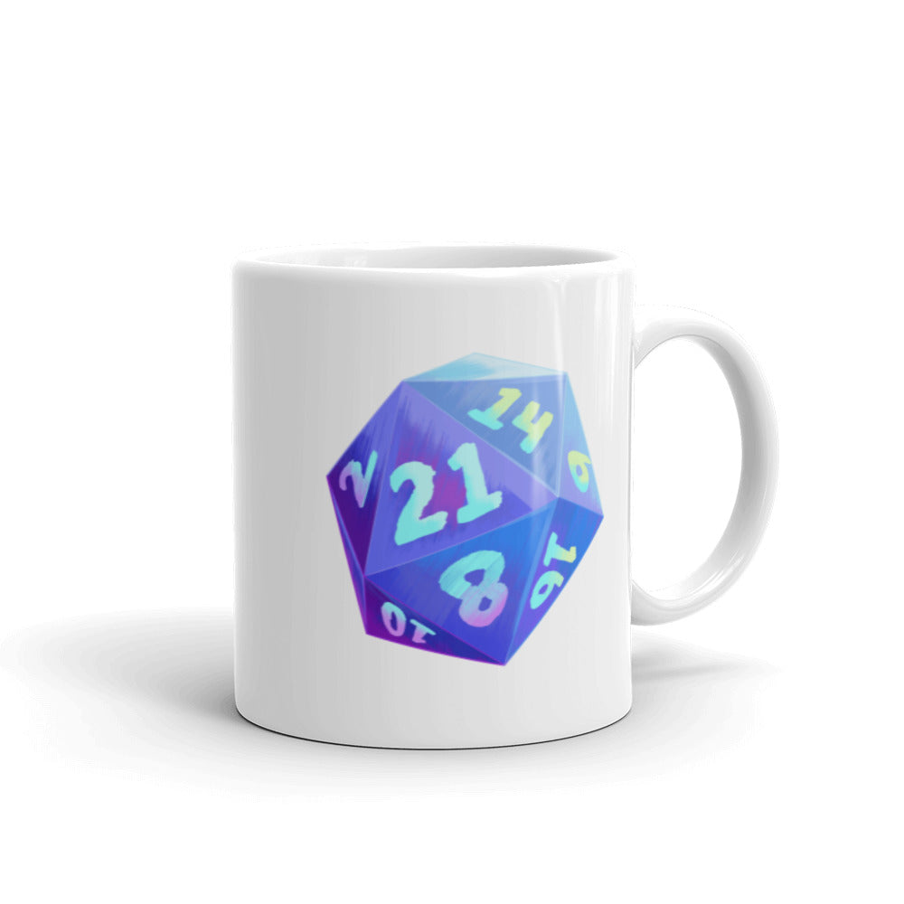 Um, Actually 21 Sided Dice Mug