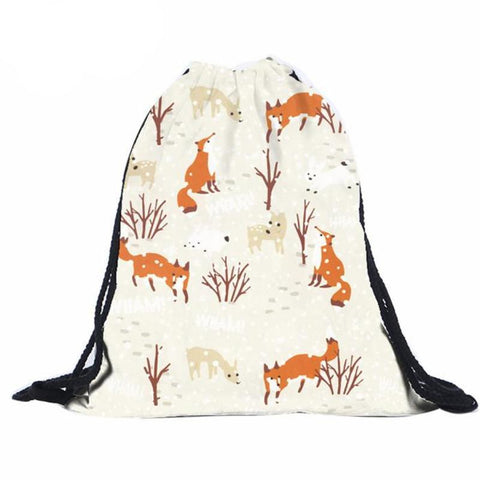 """Woodland Wonderland"" Drawstring Backpack"