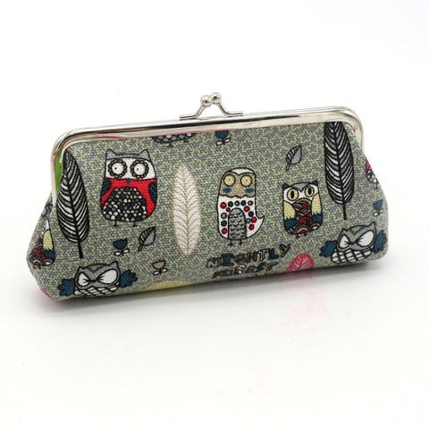 """Boo! Who? Woo! Achoo!"" Canvas Owl Clutch"