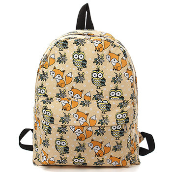 """Woodland Friends"" Owl and Fox Backpack"