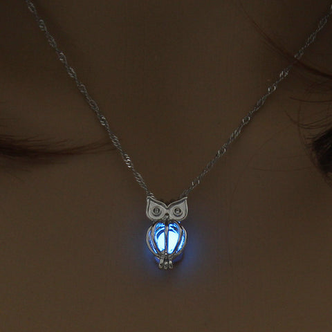 """Night Lights"" Luminous Owl Pendant"