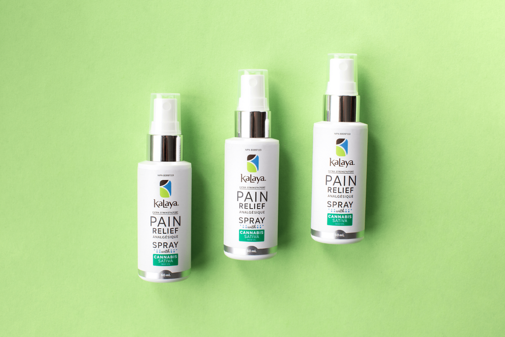 Pain Relief Spray with Cannabis Sativa Seed Oil