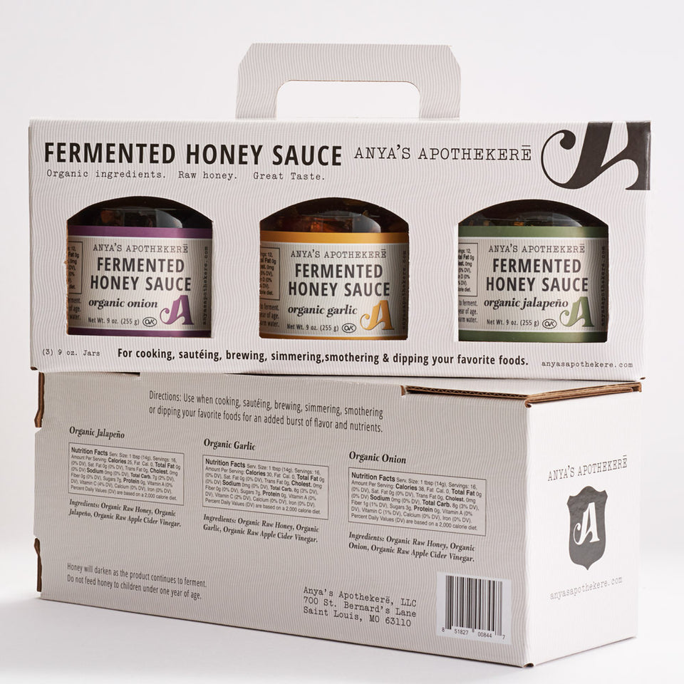 Gourmet Fermented Honey Sauce - Set of Three Organic Flavors