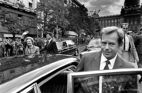 01/18/90 - Vaclav Havel accompanies then British Prime Minister Margaret Thatcher