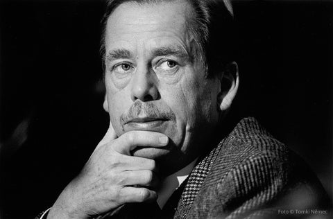 Brno, 12/04/91 - Václav Havel taking part in Government talks about the budget