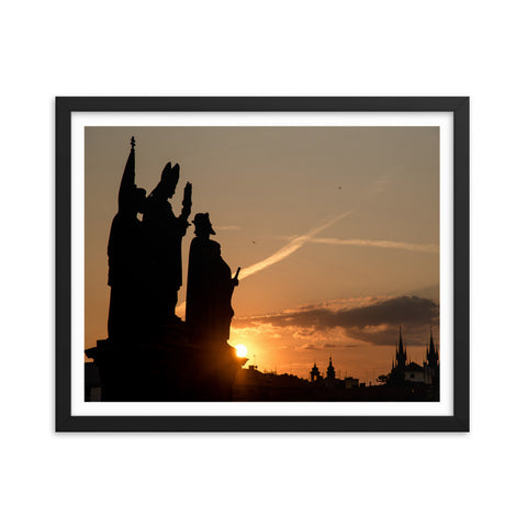 """Morning Statues at Charles Bridge"" 16x20, matte"
