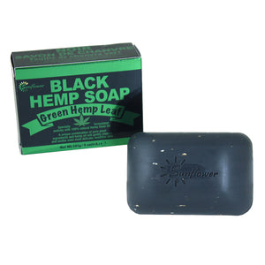 Green Hemp Leaf Black Hemp Soap - 5 oz. - Alkebulan Lifestyle