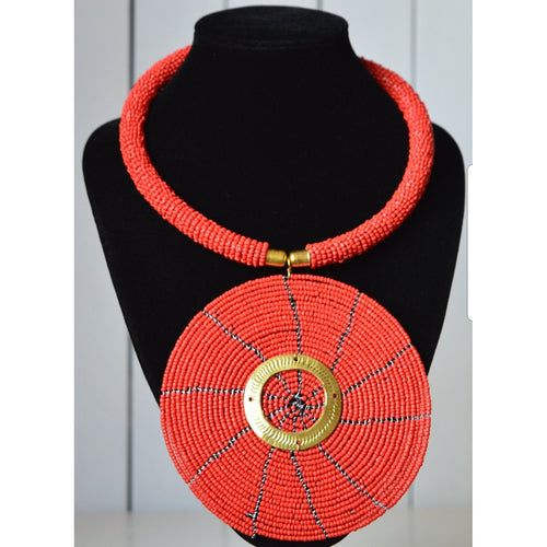 African Beaded Necklace - Alkebulan Lifestyle