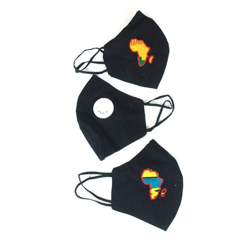 Africa Map Filter Masks - Yellow or Blue