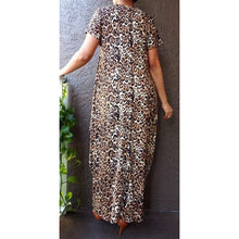 Long Printed Bubble Dress - One Size fits S-2XL - Lime Green