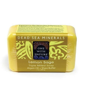 Lemon Sage Shea/Argan Soap - 7 oz. - Alkebulan Lifestyle
