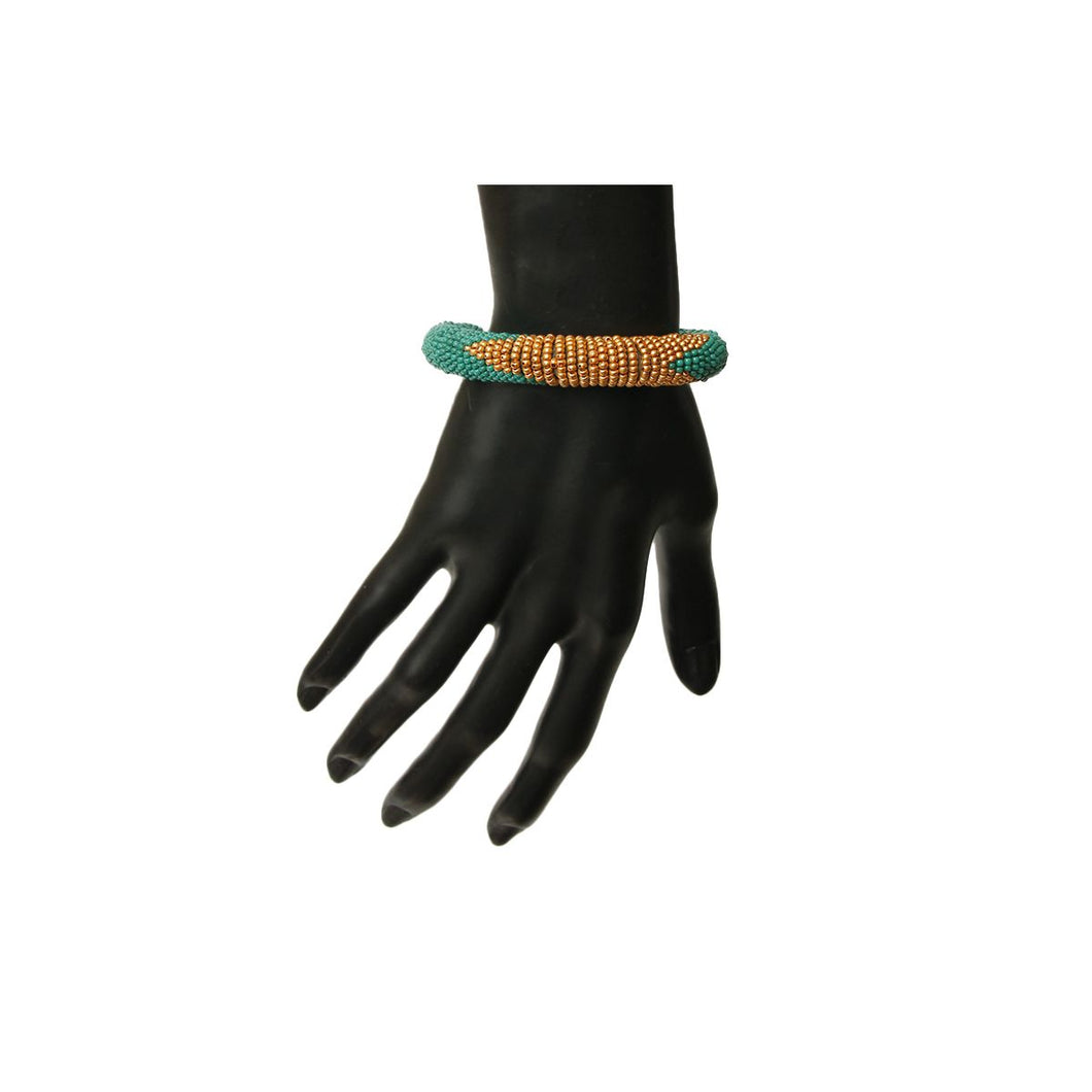 Zulu Maasai Beaded Bracelet - Green