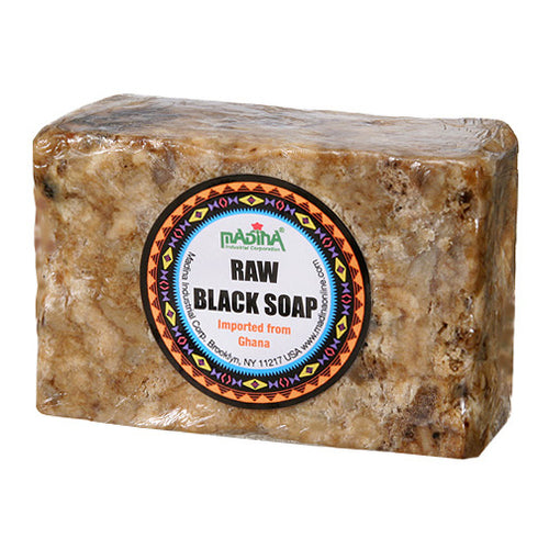 RAW BLACK SOAP- PREMIUM - 8oz - Alkebulan Lifestyle