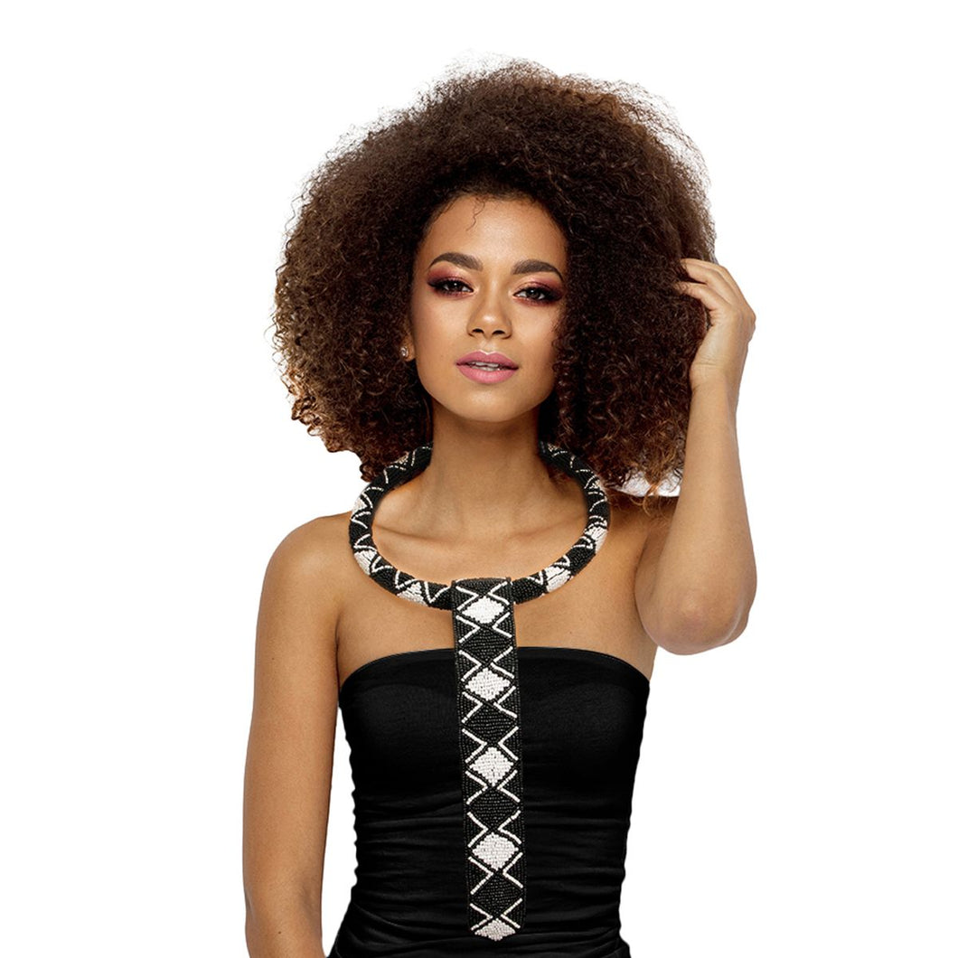 Beaded Collar Ring Zulu Necklace Set