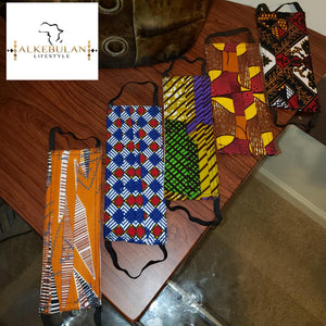 African Print Ankara Head Wrap Headwrap Turban and Mask Ghana Wax Cotton