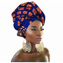 African Print Head Wrap Headwrap Scarf Shawl - 100% Wax Cotton