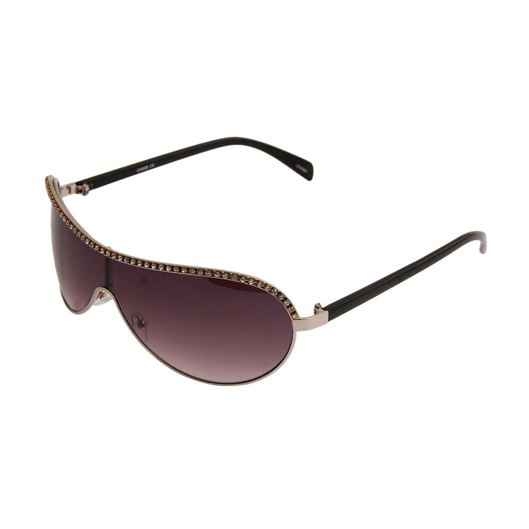 Black Shield Aviator Sunglasses