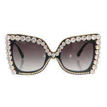 Square Black Crystal Glasses