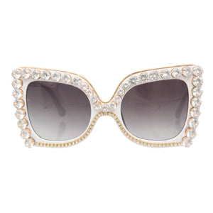 Square White Crystal Glasses
