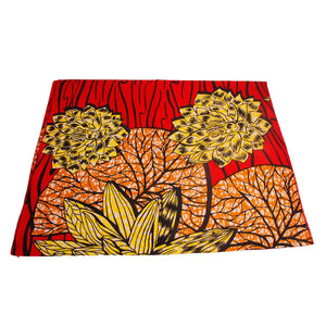 Red African Ankara Wax Headscarves Headwrap Scarf Turban