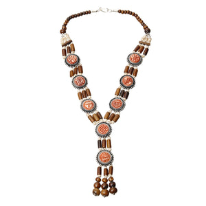 Wooden Bead Y Necklace