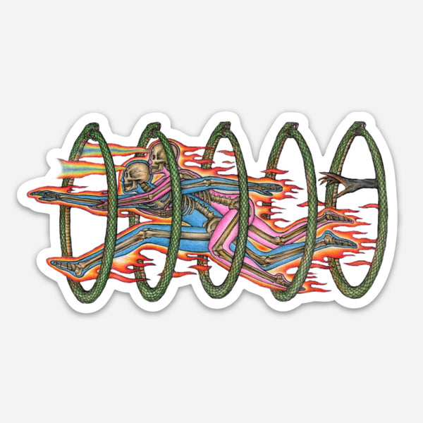 """THROUGH TIME & SPACE"" STICKER"
