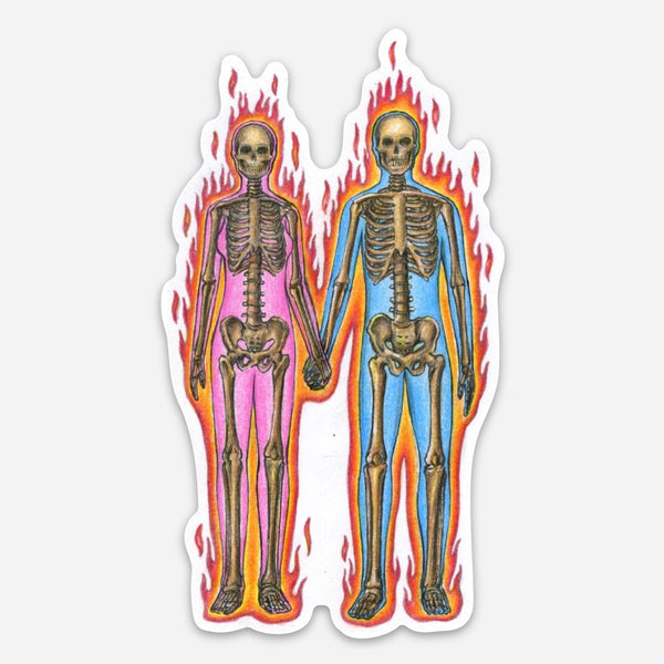 """TWIN FLAMES"" STICKER"