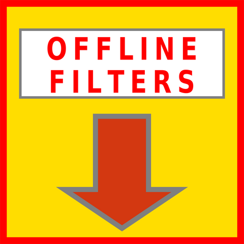 Offline Filters Floor Sign