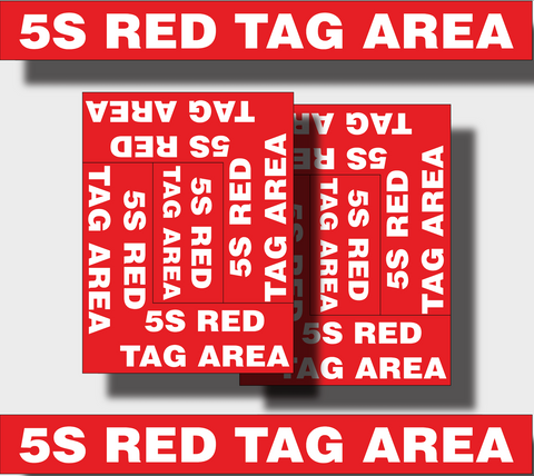 PIPRD 5s Red Tag Area Printed Angles & Strips