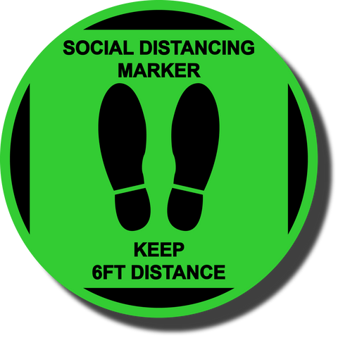 Social Distancing Marker Floor Sign