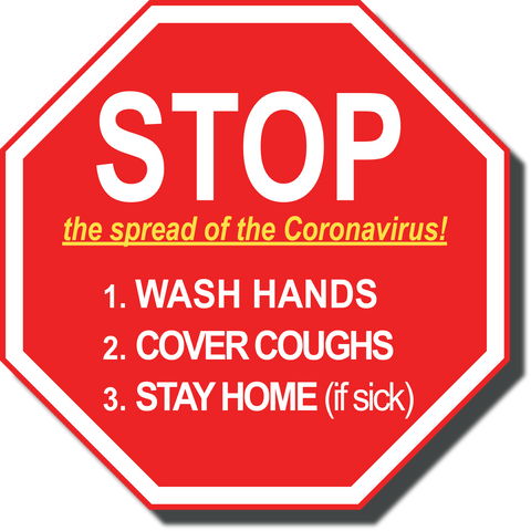 Stop The Spread Of The Coronavirus Floor Sign