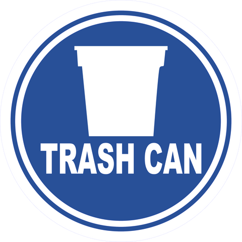 Trash Can Floor Sign